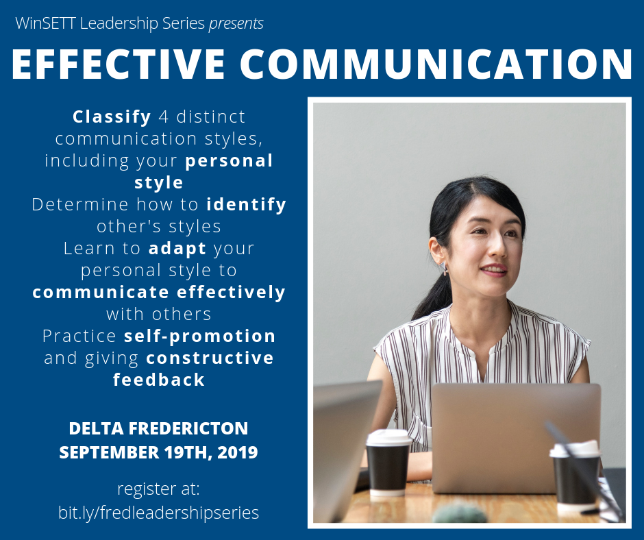 WinSETT Leadership Series: Effective Communication @ Delta Fredericton